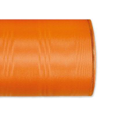 Kranzband 4422/075mm 25m Moire Goldrand, 233 orange