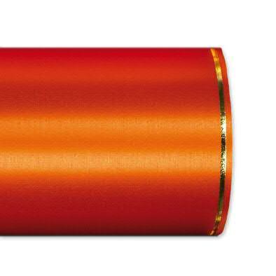Kranzband 2501/100mm 25m Satin Goldrand, 768 orange