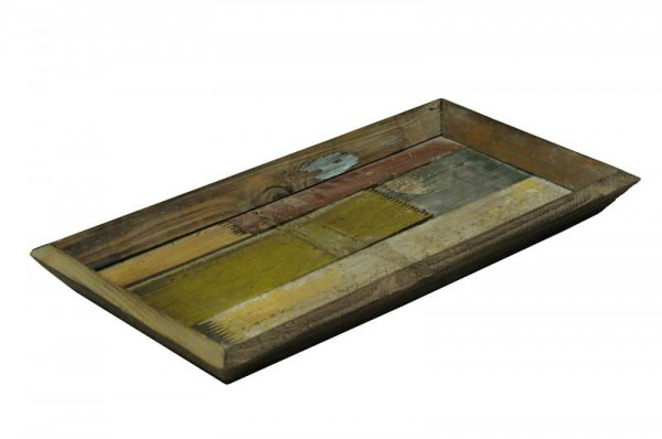 Tablett Holz 49x25cm Bunt Holztabletts Holz Artikel Sortiment