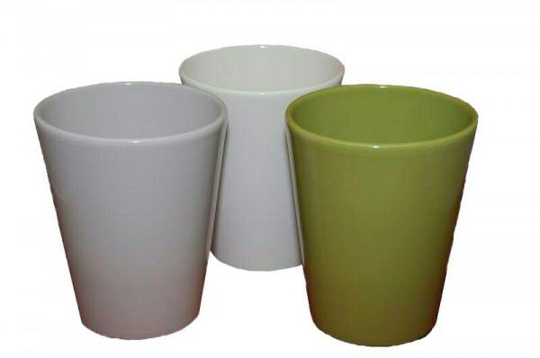 Vase Keramik 518/H14cm Orchidee, grau/grü/p