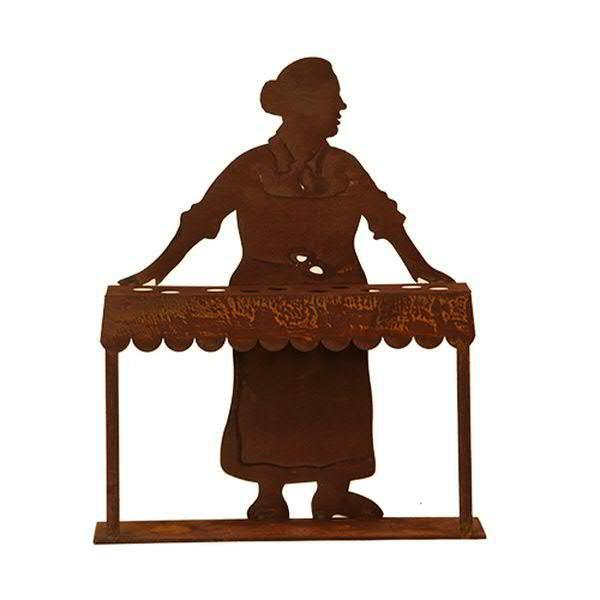 Rost Marktfrau H35cm f.10Reagenzgläser