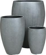 Vase FS129 H67/49/35cm 3er Satz m.E., grau2
