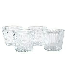 Glas H9,5D11,5cm Vintage sort, klar