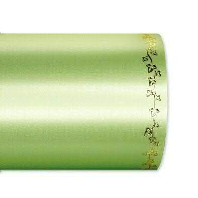 Kranzband 2505/125mm 25m Satin Efeurand gold, 703 apfel