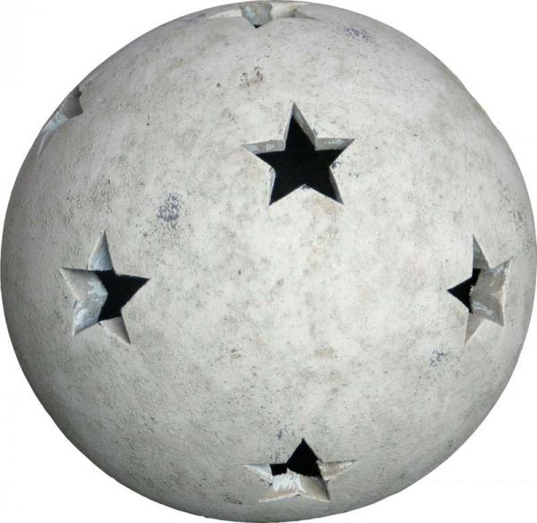 Kugel TC182 D17cm m.Sternen, tw-beige