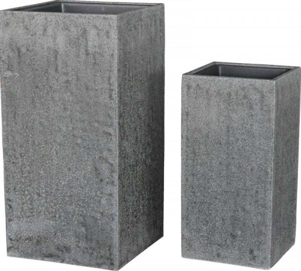 Vase FS117 H80/60cm m.E.2er Satz, steingrau