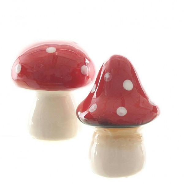 Pilz Dolomit D6,5/7,5H8/9cm sortiert, rot/weiß