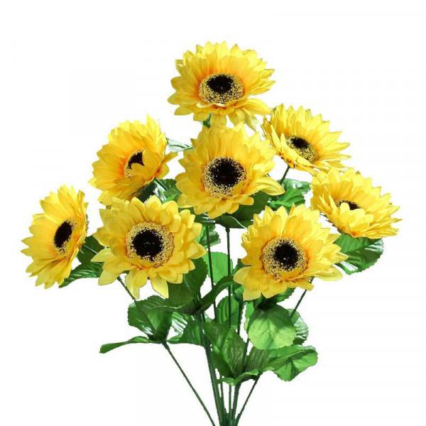 Sonnenblume Busch x9, gelb