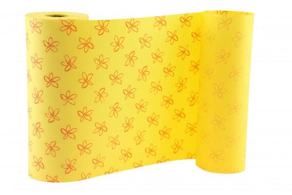 Manschettenpapier 25cm 100lfm Petit Fl, gelb