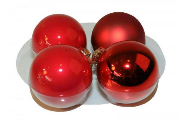 Weihnachtskugel 8cm 28St., rot