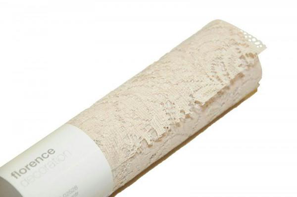 Stoff 4532/280mm 2,5m Spitze, 71 sand