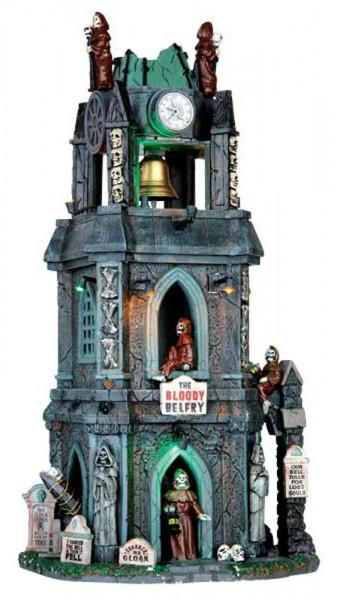 Halloween The Bloody Belfry 17,5x33,6 animiert, Beleuchtet,Sound, Adapter