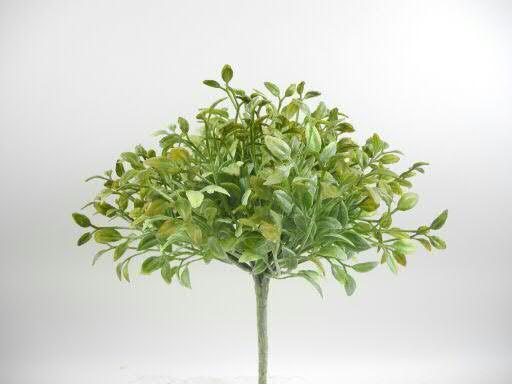 Klocke Deko blätter busch 25cm grün weitere pflanzen kunstbäume pflanzen
