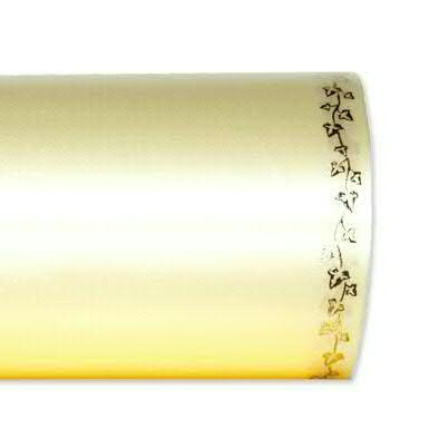 Kranzband 2505/125mm 25m Satin Efeurand gold, 778 champa