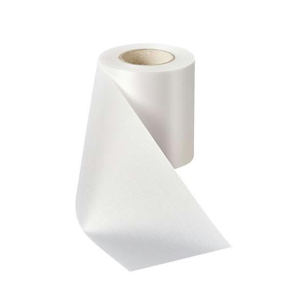 Kranzband 08000/200mm 25m Satin, 001 weiß