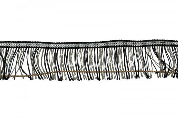Franse 8132/4cm 25m schwarz/weiß, schwarz/we