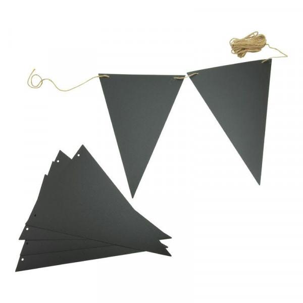 Kreidetafel Flaggenschnur 4m 14 Flagen + 1 Kreidestift, schwarz