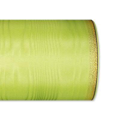 Kranzband 6694/125mm 25m Moire Goldrand, 603 apfel