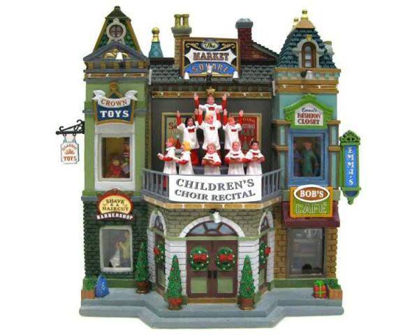 Fassade Market Square Christmas Celebr animiert & Beleuchtet
