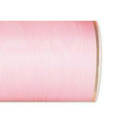 Kranzband 4422/175mm 25m Moire Goldrand, 224 rosa