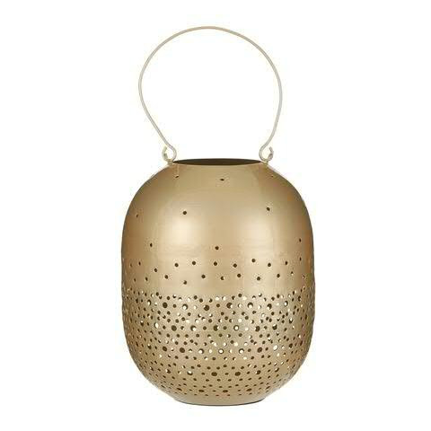 Laterne Metall SP H26D20cm, gold
