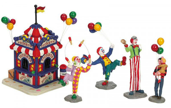 Carnival Ticket Booth Figurines H14cm