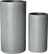 Vase FS116 H80/60cm 2er Satz m.E., grau2