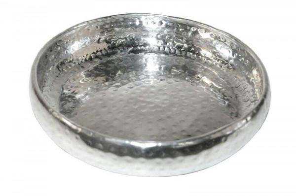 Schale Alu D47cm poliert, silber
