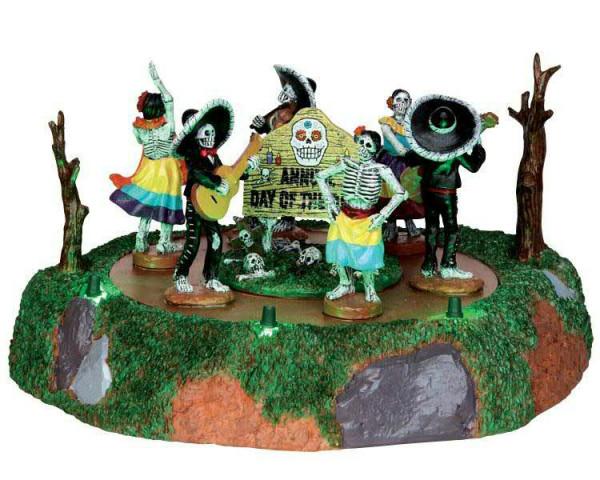 Halloween Day of the Dead Parade 23x13 animiert, Batteriebetrieben