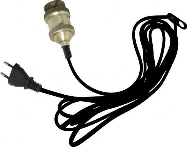 Kabel mit Fassung E27 3,5m Schalter