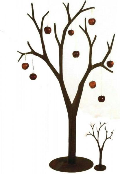 Rost Baum H175cm auf Platte 3mm Stahl