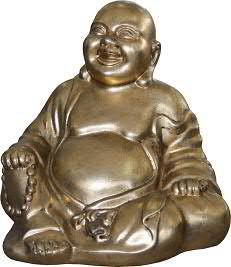 Buddha FS185 H38cm sitzend, gold