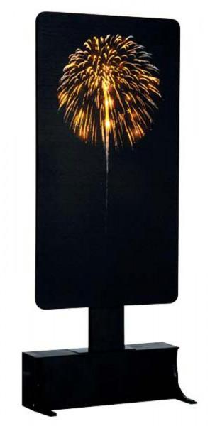 Yellow Fireworks LED 12,5x27cm 4,5V Beleuchtet, Batteriebetrieben