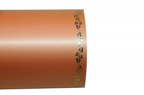 Kranzband 06738/200mm 25m Satin Efeurand gold, 081 aprico