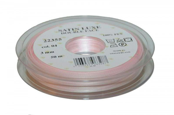 Band Satin 22355/03mm 50m, 004 h.rosa