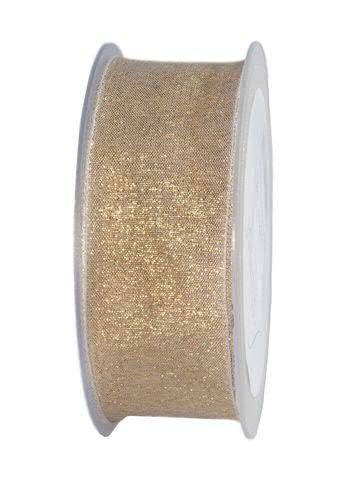 Band 1192/40mm 20m, creme/gold