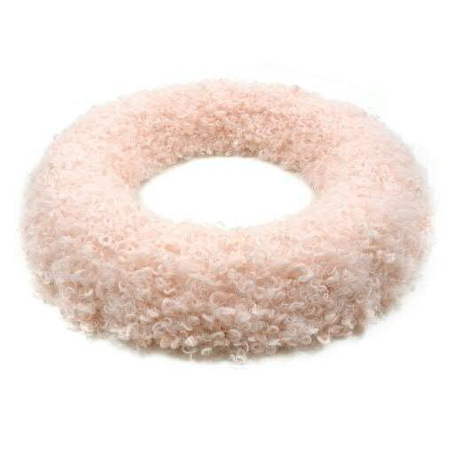 Kranz Kunstfell D28H5cm, pink