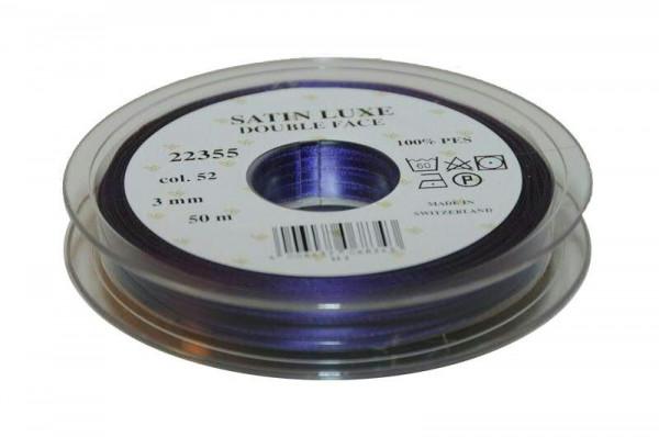 Band Satin 22355/03mm 50m, 052 lila
