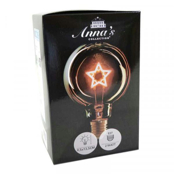 Glühbirne LED Stern 9,5x13,5cm E27 1800K 2W, amber