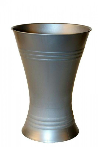 Gebrauchsvase 120 21/18cm Kunststoff, grau H21cm