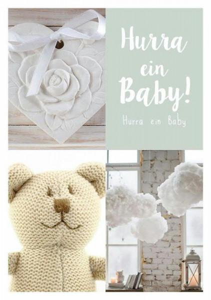 Karte Mini Hurra ein Baby