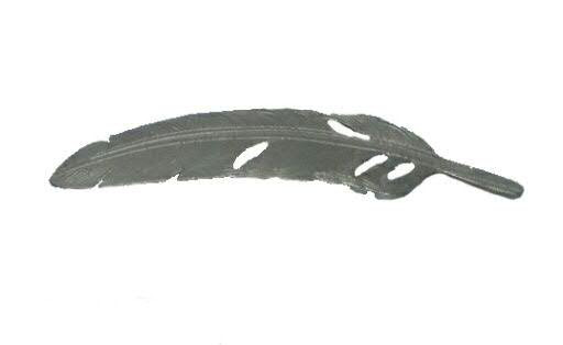 Feder Metall 12x3cm 6St., silber