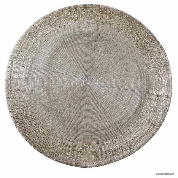 Tischset D35cm rund, silber