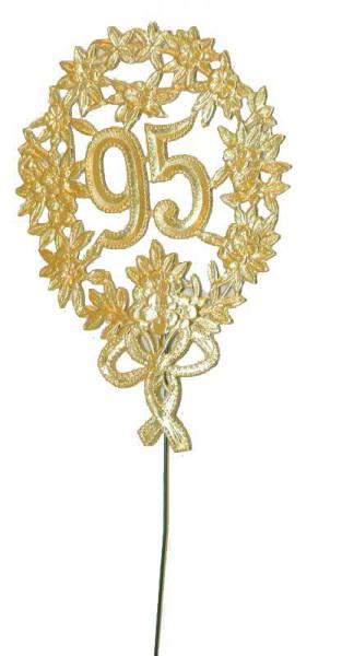 Zahlen Jubiläum SP.8x12cm 95 10St., gold
