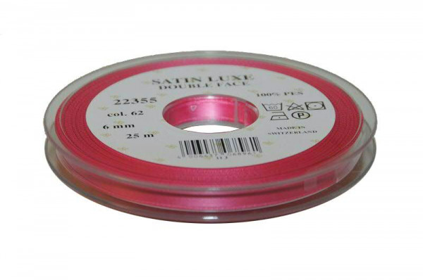 Band Satin 22355/06mm 25m, 062 h.pink