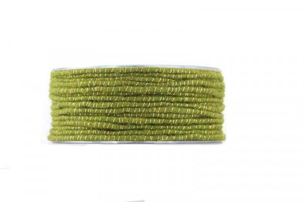 Dochtfaden Draht Glamour 33m GU13LU02, grün gold