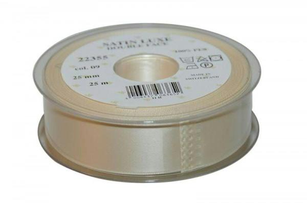 Band Satin 22355/25mm 25m, 009 creme