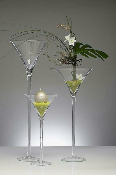 Glas D30H70cm Martini, klar