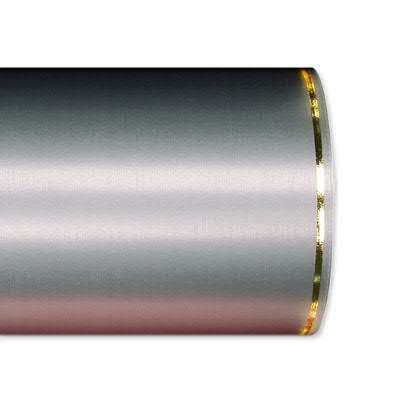 Kranzband 2501/100mm 25m Satin Goldrand, 721 grau