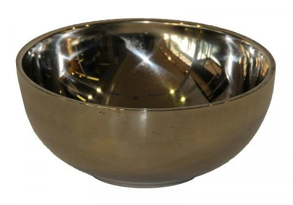 Schale Metall D15,7H6,8cm Stainless, silber